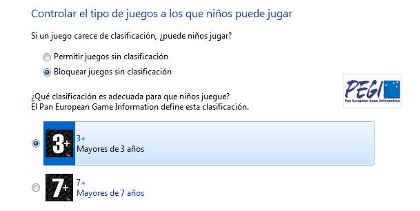 Control parental en Windows 7