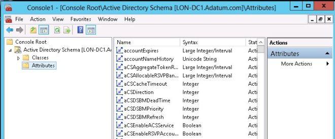 Complemento de esquema del directorio activo